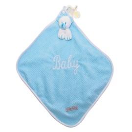 Naninha de bebê cetim zip toys urso azul
