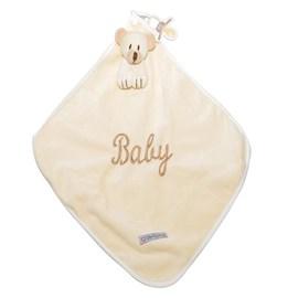 Naninha de bebê cetim zip toys urso bege