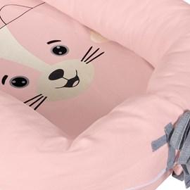Ninho redutor de berço turminha da hug mel rosa
