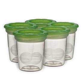 Pote para armazenar leite materno mam kit c/ 5 potes 120 ml