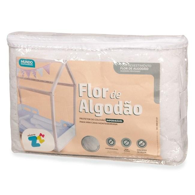 Protetor de colchão para mini cama impermeável flor de algodão fibrasca