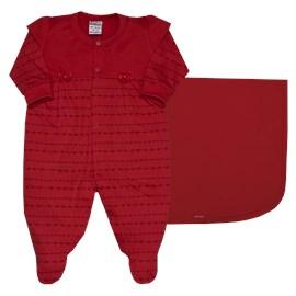 Saida de maternidade malha charm sonho magico vermelho