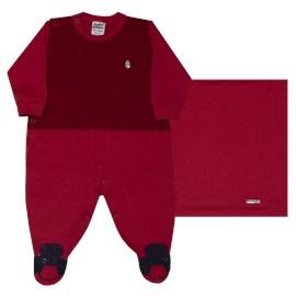 Saida de maternidade malha/trico stylish sonho magico vermelha