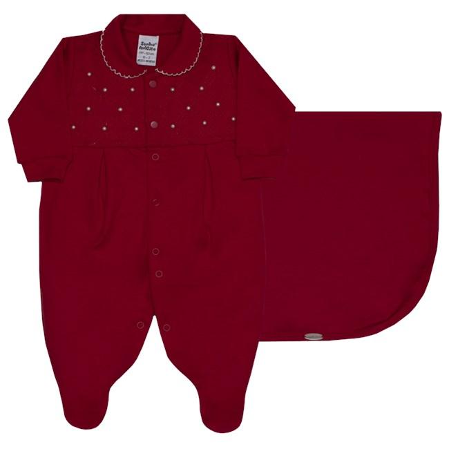 Saida de maternidade suedine delicate girl sonho magico vermelho