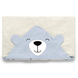 Toalha de banho bebê bosque azul