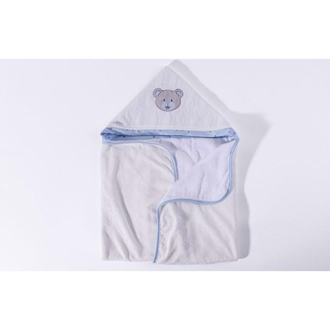 Toalha de banho bebê brilha estrelinha azul