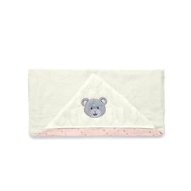 Toalha de banho bebê brilha estrelinha rosa