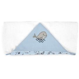 Toalha de banho bebê hug fundo do mar azul