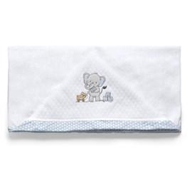 Toalha de banho bebê lembranças de infancia azul