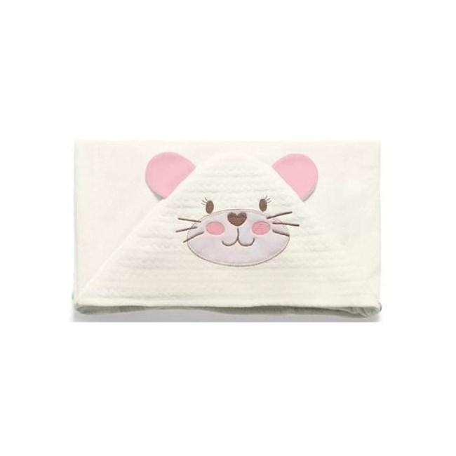 Toalha de banho bebê mundo de fantasia rosa
