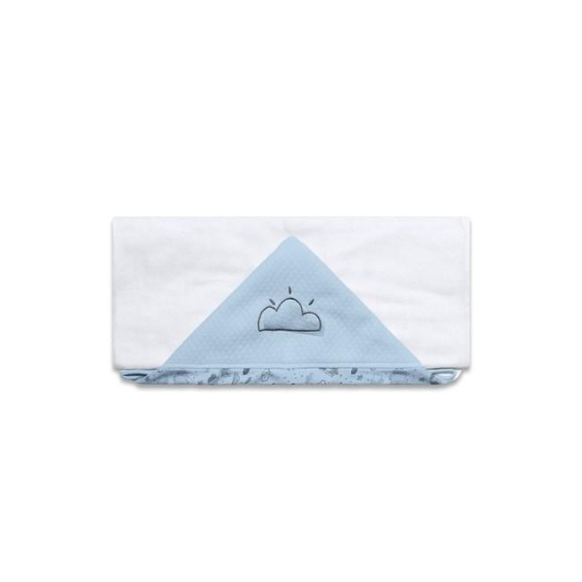 Toalha de banho bebê nevoa azul