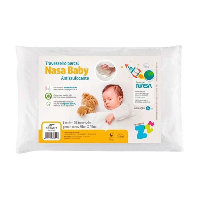 Travesseiro para bebê nasa percal fibrasca